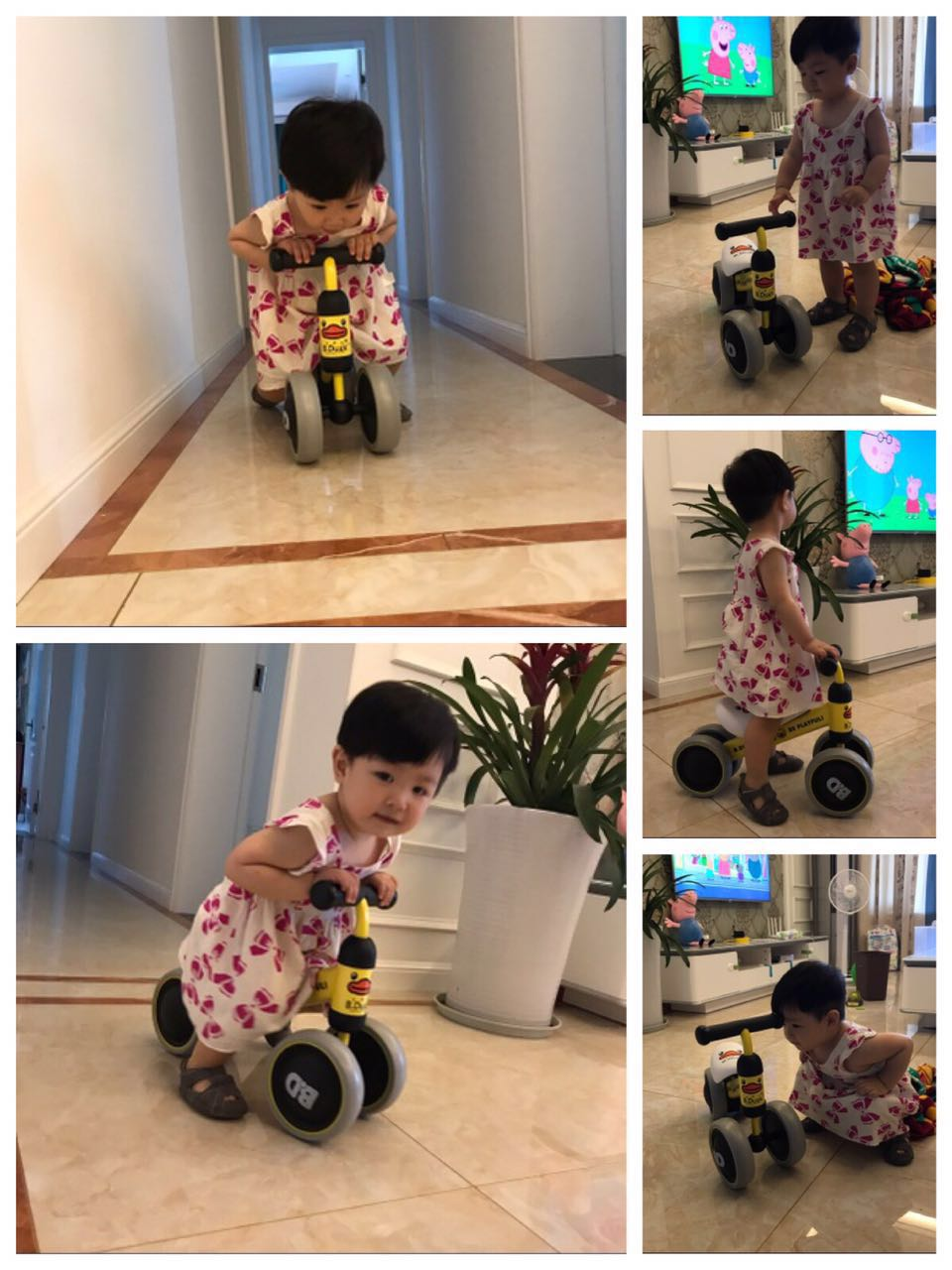 HTB11vO4lvBNTKJjSszcq6zO2VXal New brand children's bicycle balance scooter walker infant 1-3years Tricycle for driving bike gift for newborn Baby buggy