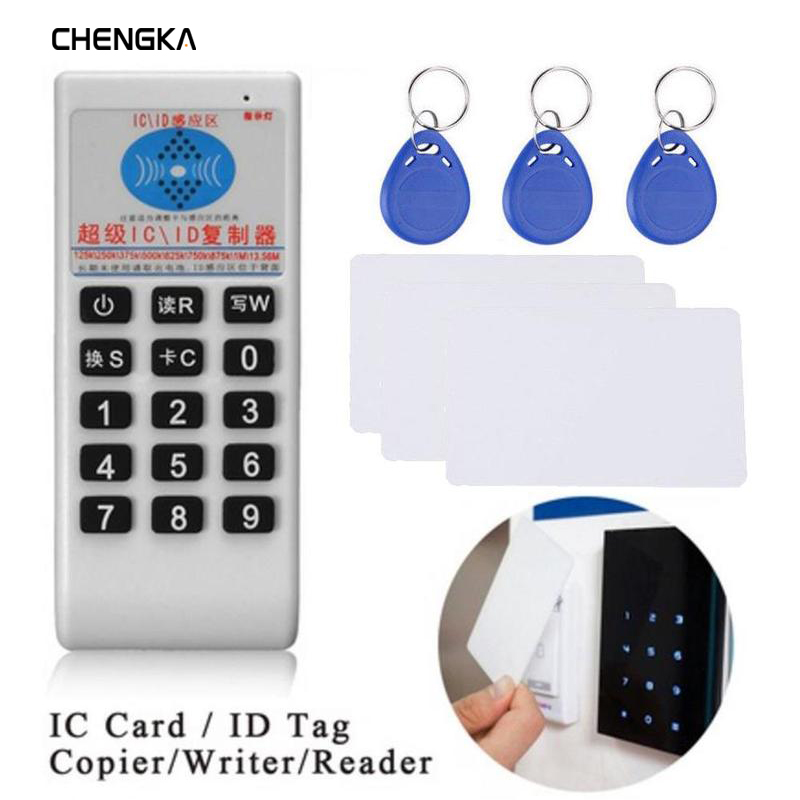 Handheld 125Khz-13.56MHZ  Copier Duplicator Cloner RFID NFC IC card reader & writer + 3pcs 125KHZ +3pcs 13.56MHZ cards(China)