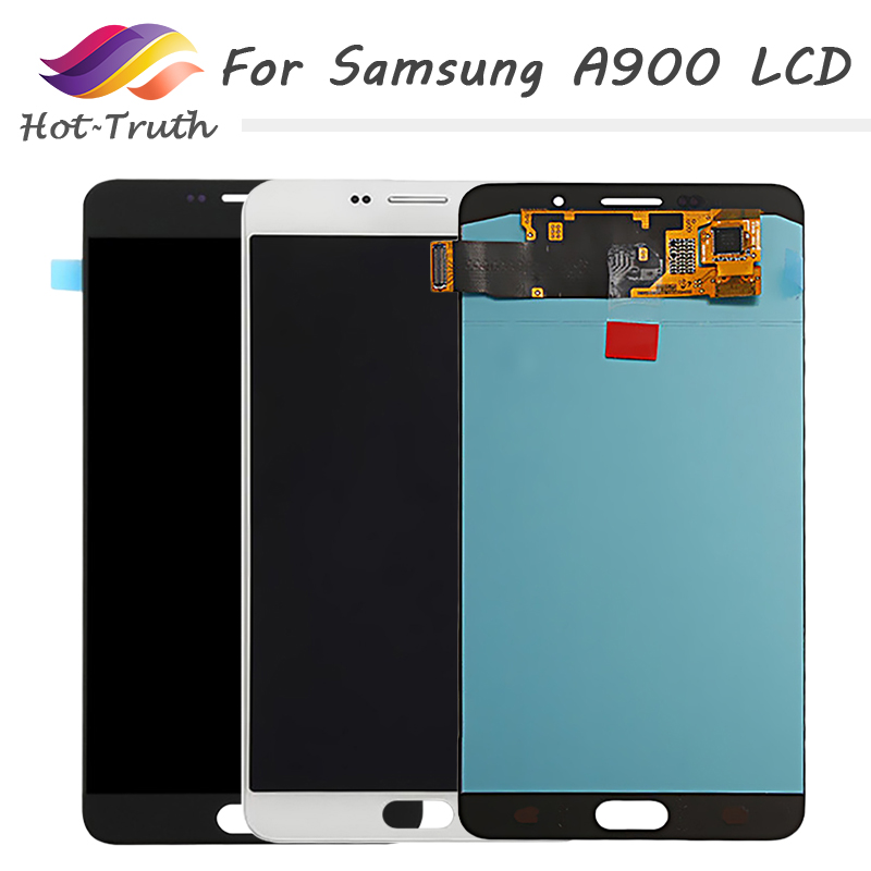 "6.0"" SUPER AMOLED Replacement for SAMSUNG Galaxy A9 LCD Screen and Digitizer Assembly A900 A9000 Display Black/White/Gold"