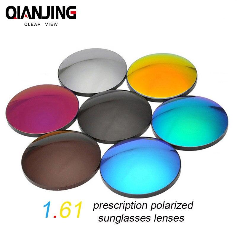 QIANJING 1.61 lunettes de soleil polarisées à indice élevé lentille optique 8 couleurs en option lentilles de lunettes de soleil à Vision unique