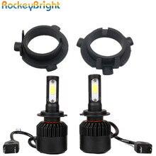 Rockeybright 1set H7 LED Conversion Kits with 2pcs Adapter for Kia K3 K4 K5 Sorento All in One Car headlight fog light Lamp kit
