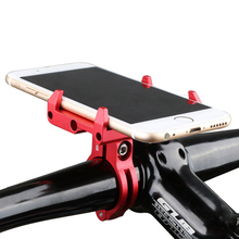 4 colors New Arrival CNC Aluminum Bicycle Phone Holder Bracket For Iphone X 6 7 8 Plus GPS Device 3.5- 6.2 inch