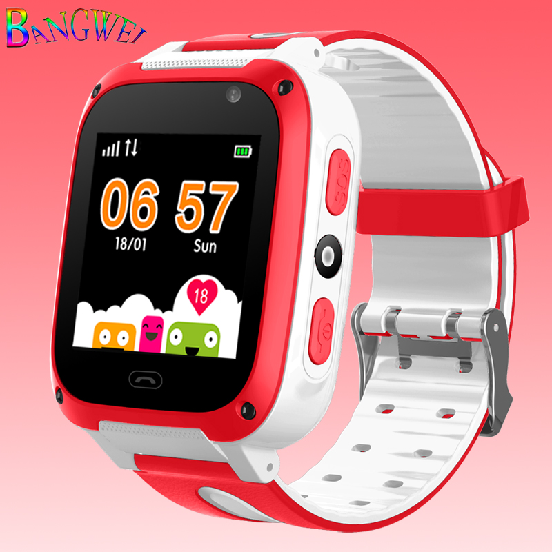 Bangwei 2018 new children's smart watch LED color screen
