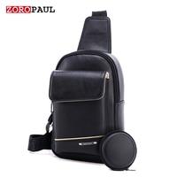 ZOROPAUL 2017 Brand Bag Men Chest Pack Single Shoulder Strap Back Bag Leather Travel Men S