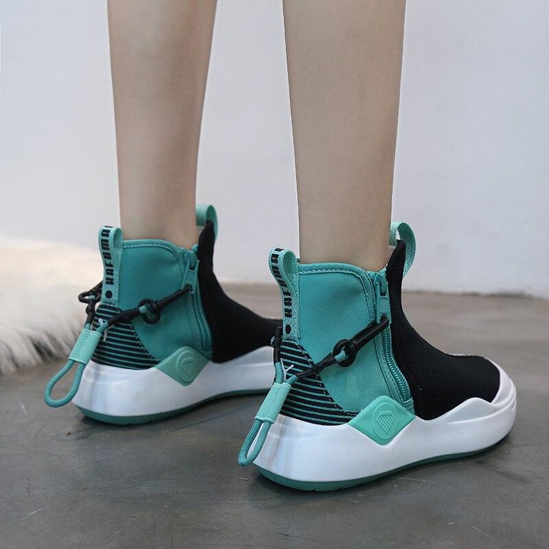 Zufeng Spring Women Running Shoes Sport Shoes Breathable Mesh Women Sock Sneakers Sport Walking Shoes Zapatillas Hombre Mid Cut