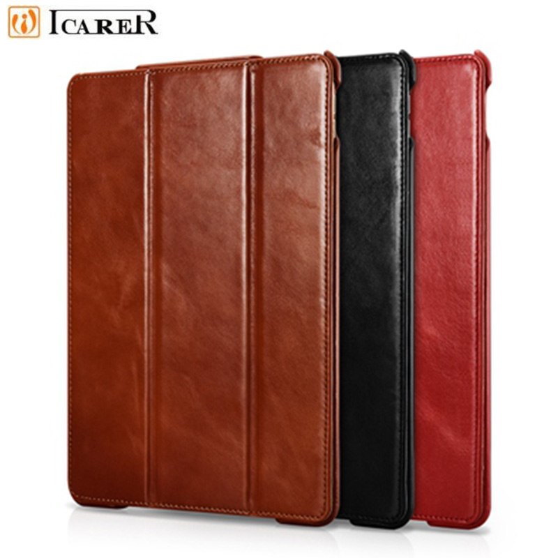 iCarer For iPad Pro 10.5 Case Vintage Genuine Leather Cover For Apple New iPad Pro 10.5 Protective Case Cover Flip Fundas leather case flip cover for letv leeco le 2 le 2 pro black