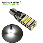 HYZHAUTO 1Pcs T15 W16W LED Lights Bulb White 6500K Auto Car Backup Reserve Light Additional Brake Lights 45 SMD 4014 DC12V