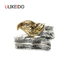100% Pure 925 Sterling Silver Jewelry Bird Rings Opening Vintage Men Signet Ring For Women Fine Gift 0013 100% pure 925 sterling silver jewelry bird rings opening vintage men signet ring for women fine gift 0013