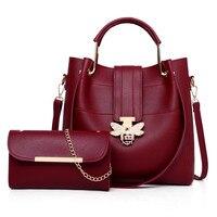 Luxy Brand Designer Crossbody Bags 2 pcs/set Bee Buckle Women Bags Small Leather Shoulder Bag Ladies Tote Bag Pink Handbag 011