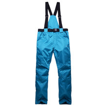Free shipping women's solid bib ski pants snowboard trousers waterproof windproof thermal fabric Crotch breathable design pant