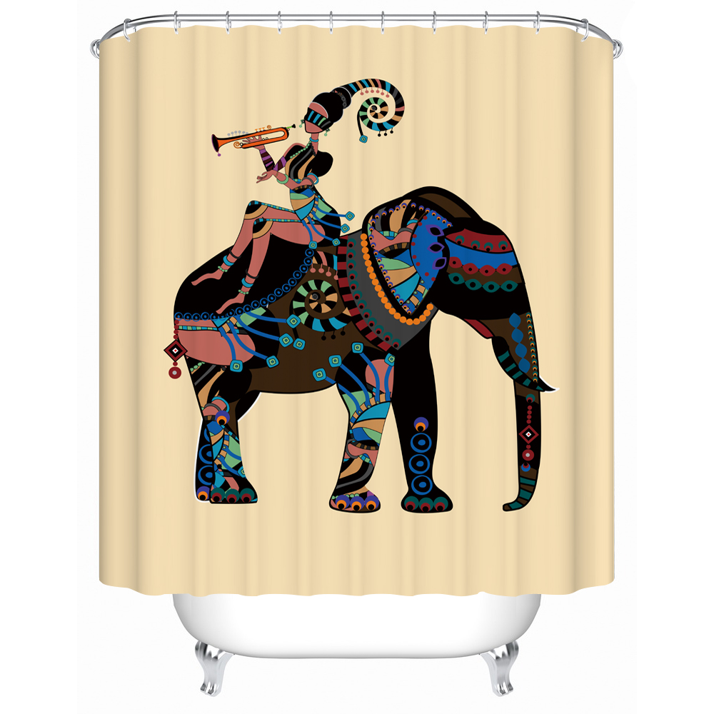 Afro shower curtain 2018