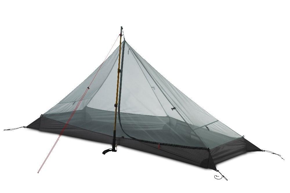 Image 4 - 3F UL GEAR LanShan 1 Outdoor Ultralight Camping Tent 1 Person 3  Season Professional 15D Silnylon LanShan1 Rodless TentTents   -