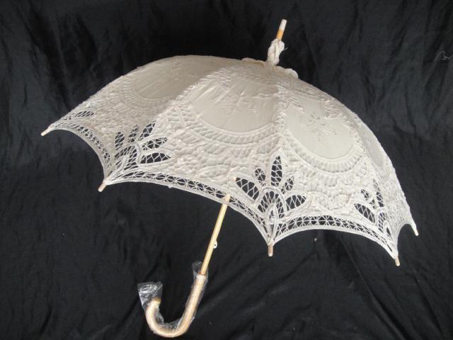 Ручной новый кружева зонтик хлопок вышивка белого кружева зонтик зонтик зонтик украшения бесплатная доставка QAZ558