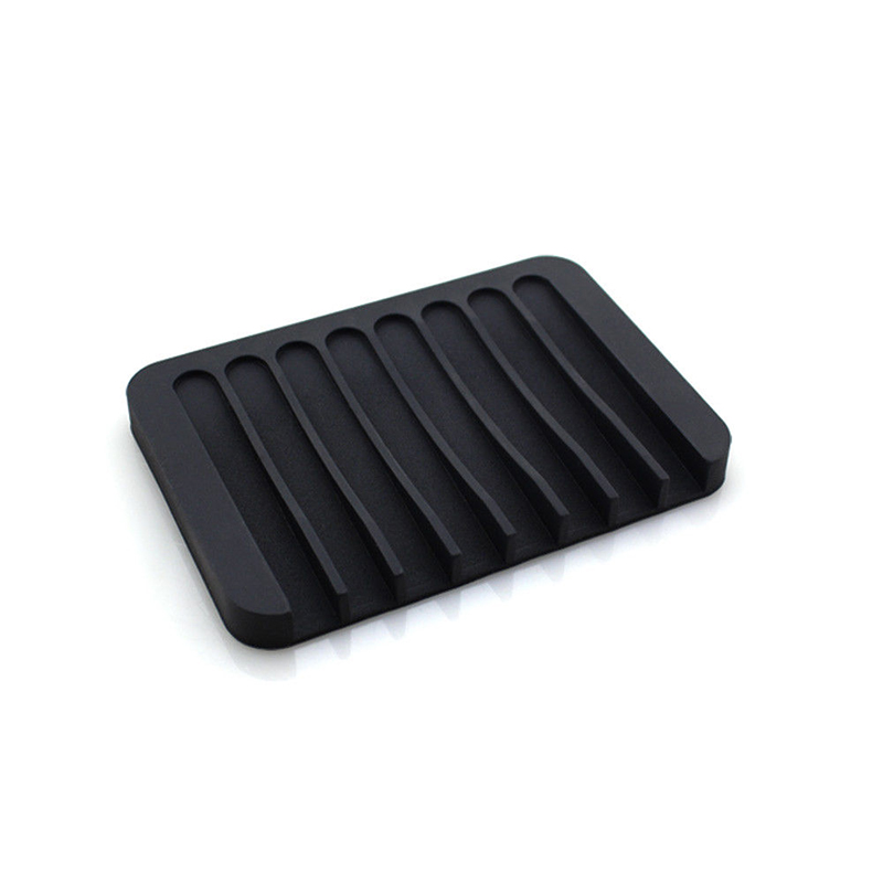 Reusable Eco-friendly Silicone Bathroom Soap Dish Plate Holder Tray Storage Case PAK55