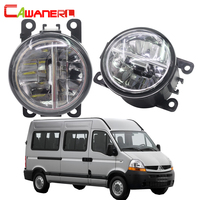 Cawanerl 2 X Car Styling LED Bulb Fog Light 4000LM 6000K White 12V DRL Daytime Running