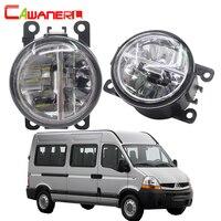 Cawanerl 2 X Car Styling LED Bulb Fog Light 4000LM 6000K White 12V DRL Daytime Running