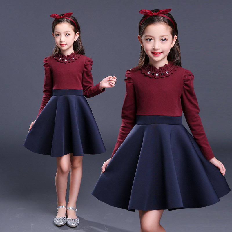 f5fe75005a39 girls long sleeve spring dress 2019 kids for big girls dresses baby ...