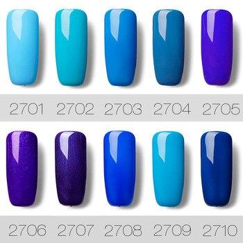 Rosalind Gel 1s 7ml Popular Color Azul Serie Uv Led Laca Gel De Uñas Acrílicas Para Gel De Uñas Arte Esmalte De Uñas De Moda 2017