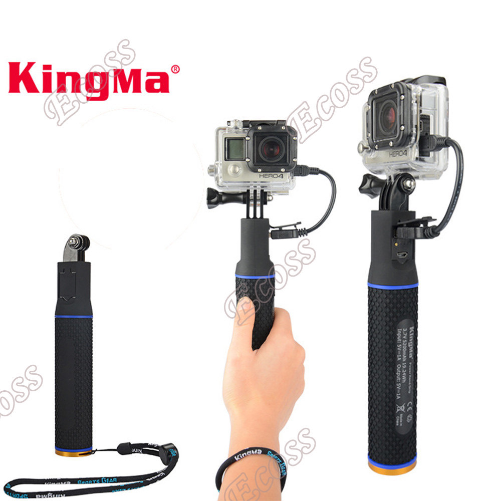KingMa For xiaomi yi Battery Charger Power,Gopro Hero4 3+3 5 Session Hand Grip Battery Power For SJ4000 GoPro Hero 5 Accessories