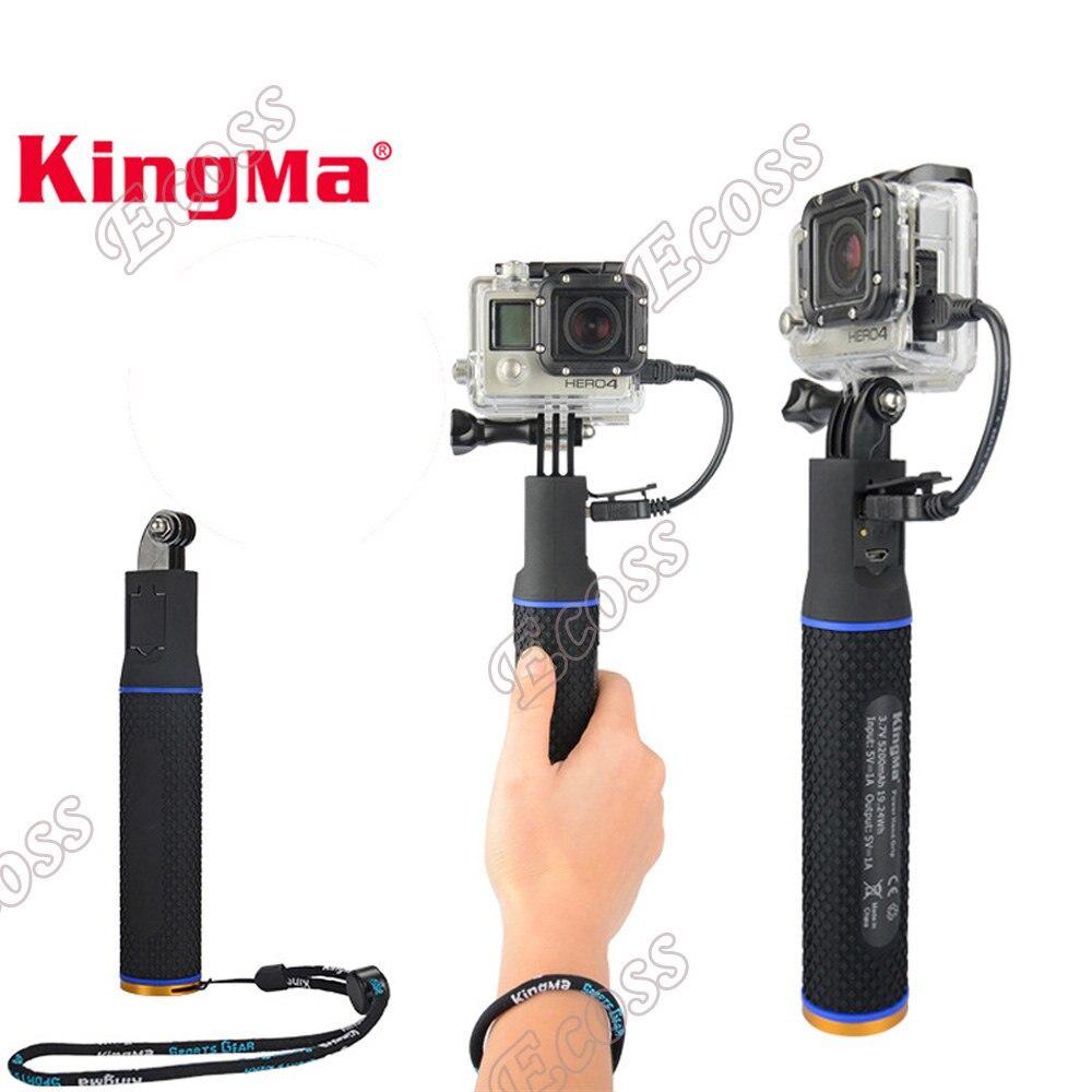 KingMa Pour xiaomi yi Batterie Chargeur Puissance, Gopro Hero4 3 + 3 5 Session Main Grip Batterie Puissance Pour SJ4000 GoPro Hero 5 accessoires