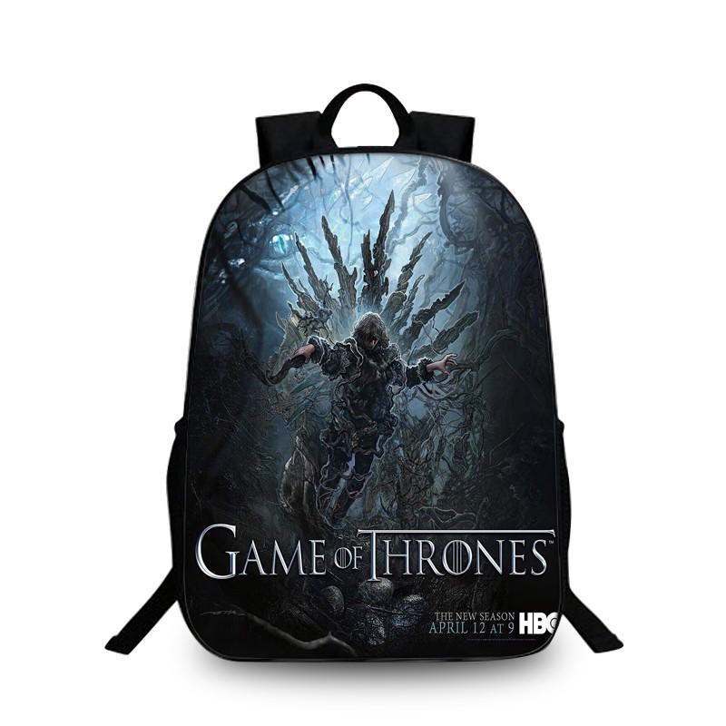 Fashion Game of Throne Backpack for Teenagers Women Backpack Laptop mochila Crowns Girls Boys School Bags Travel Daily Backpacks