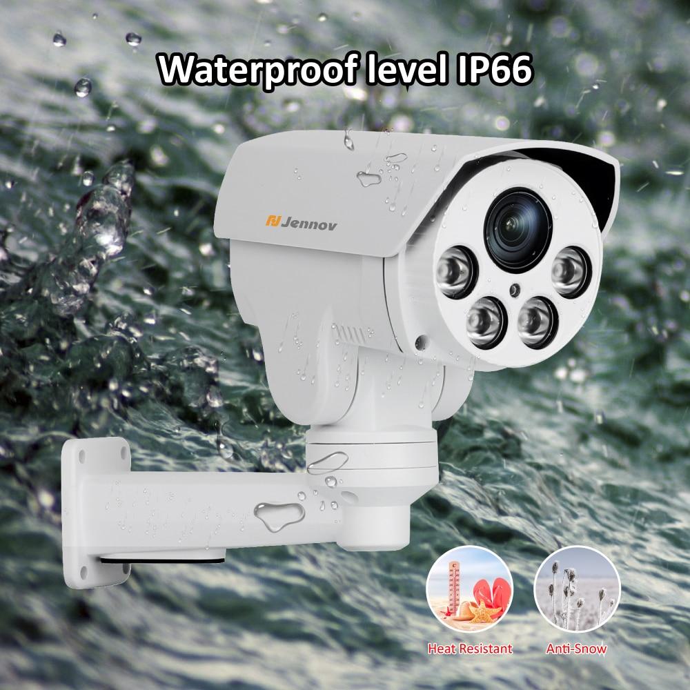 Jennov H.265 5MP CCTV PTZ IP Kamera Outdoor 4xZoom 48V Video Überwachung Home Security POE Kamera Audio 3MP wasserdichte HDMI P2P
