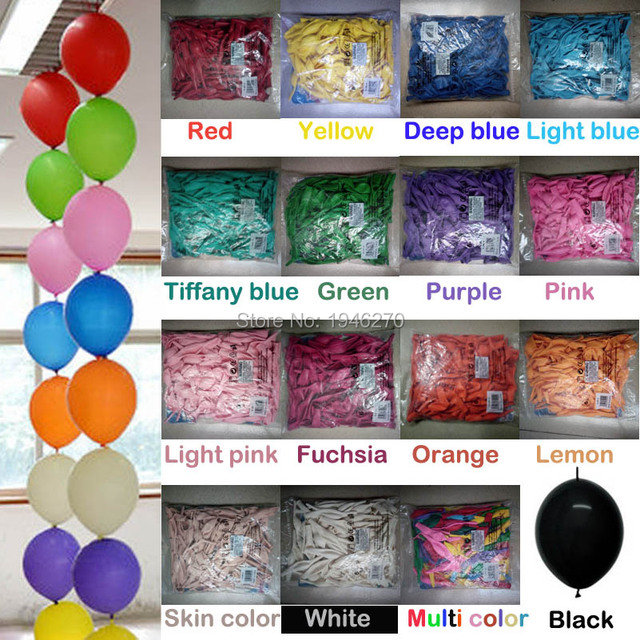 Wedding Decorations Tail Balloon Diy Home Garden Event Party 6inch Link Balloons Color