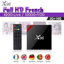 IPTV France Arabic SUBTV Code 1 Year X96 X96W Android 7.1 Smart IP TV Box 2GB 16GB Netherlands Spain Belgium French IPTV Top Box цена и фото