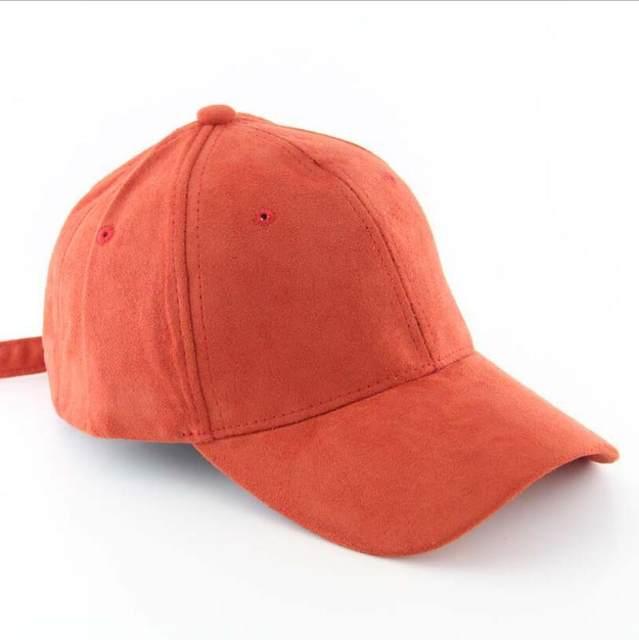 6567e8eb New Women Baseball cap men - Macarons color imulation Suede leather caps  hip hop Baseball hat #70200
