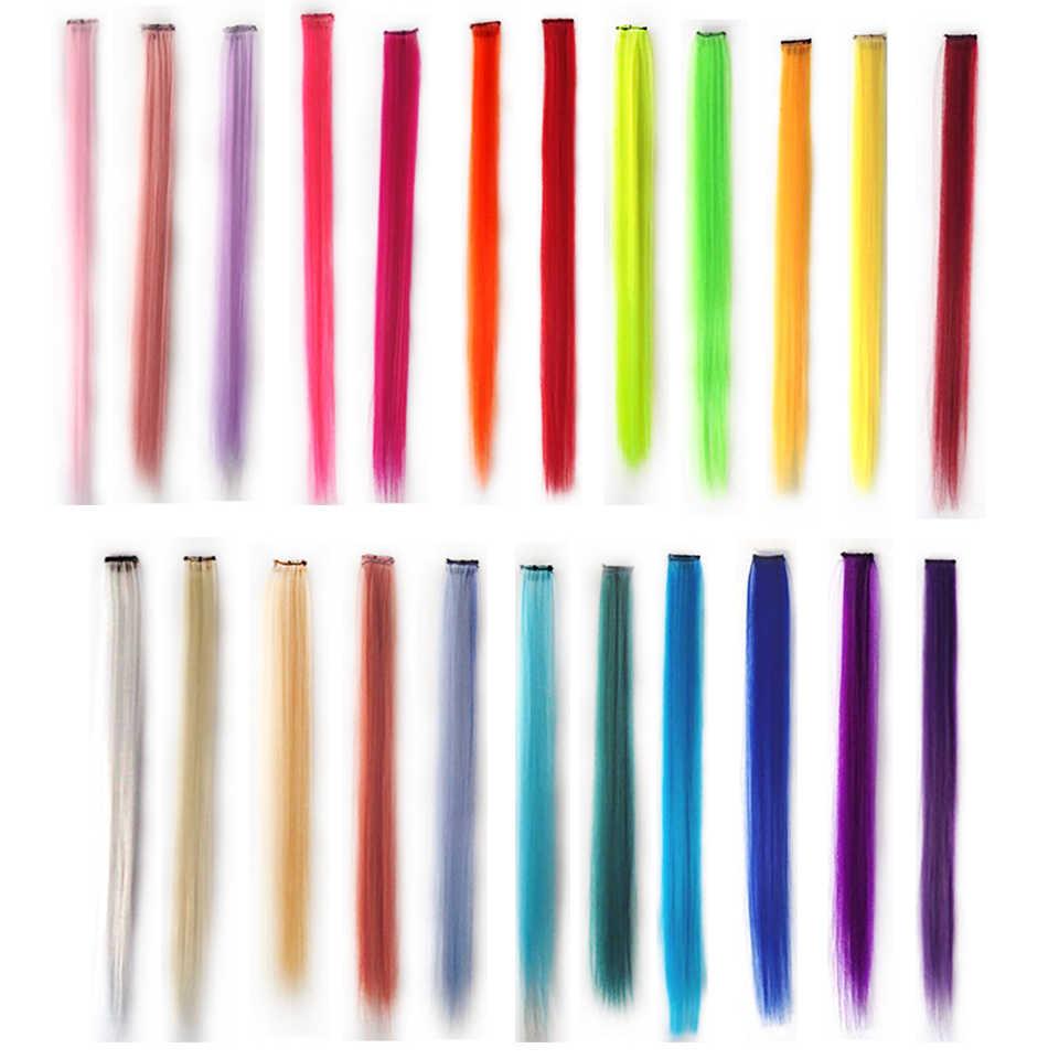 Allaosify длинные прямые 1 зажим в волосах поддельные шиньоны термостойкие синтетические поддельные волосы только один кусок