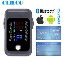 OLIECO נייד מיני אנדרואיד iOS Bluetooth אצבע דופק Oximeter חמצן בדם Sturation מטר SPO2 יחסי ציבור Oximetro צג חג המולד