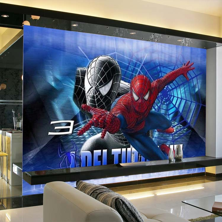 Free Shipping Anime Spiderman Bedroom Wallpaper Cartoon Murals Children Tenant Office Gl Film Custom Sizes In Wallpapers From Home Improvement On