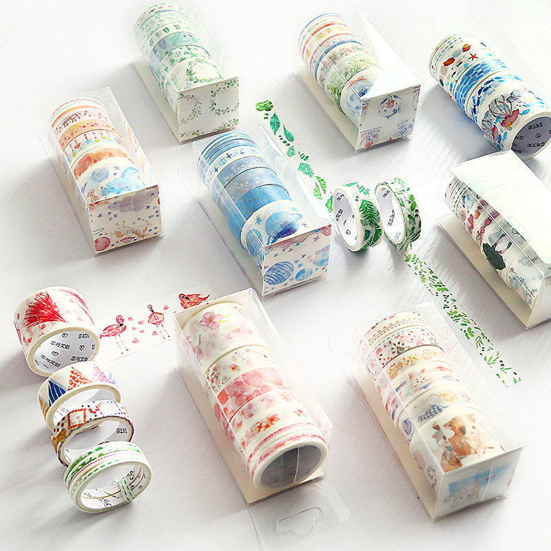 9 Pcs/Set 3m Creative Starry Sky Ocean Series Washi Tape Adhesive Tape DIY Scrapbooking Sticker Label Masking Tape