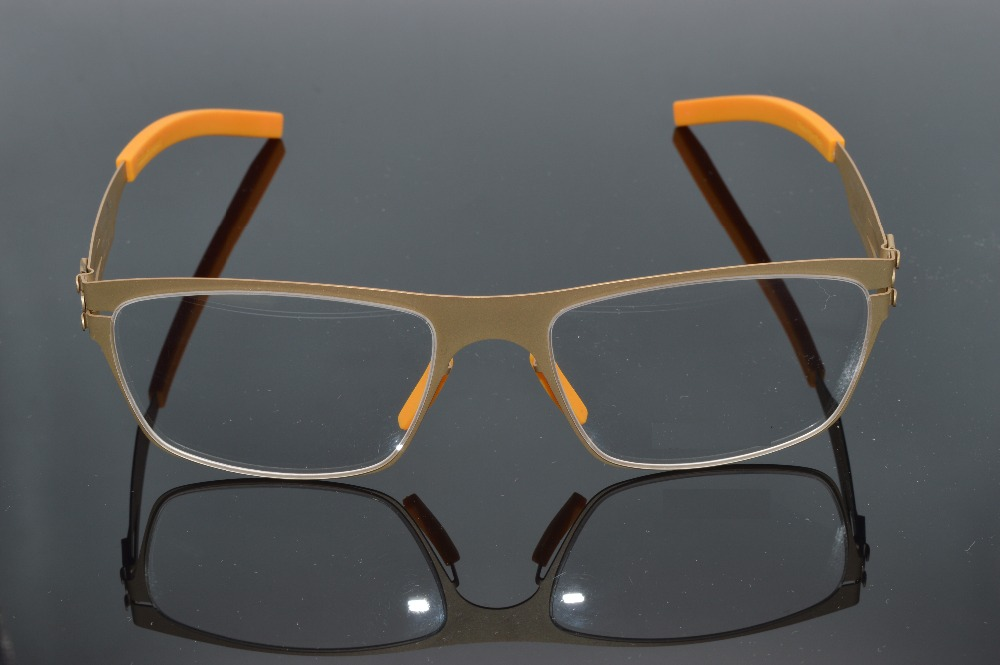 5cc9662a29 TRIGEMINAL REMOVABLE NO SCREW SOLDER JOINT ULTRA LIGHT Gold Small Frame  CUSTOM MADE OPTICAL READING GLASSES Photochromic LENS-in Eyewear Frames  from Men s ...