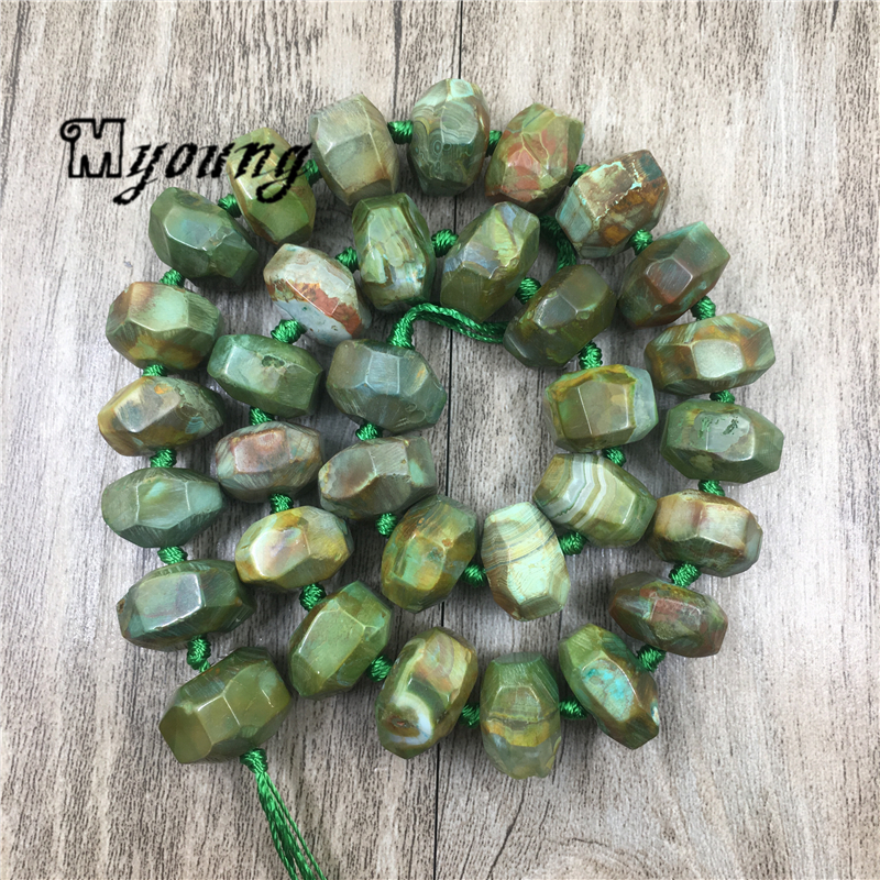 Stripped Agates Abacus Beads Faceted Banded Agat Beads For Jewelry Making 12x16mm 2 Strands lot MY1682