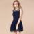 2016 venta caliente de la nueva moda de gran tamaño del verano dress delgado dress cuello redondo sin mangas de encaje sexy mujeres dress vestidos de fiesta vestidos