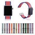 14 cores pulseira woven nylon assista banda para apple watch série 2 de tecido alça de pulso para apple watch iwatch com adaptadores