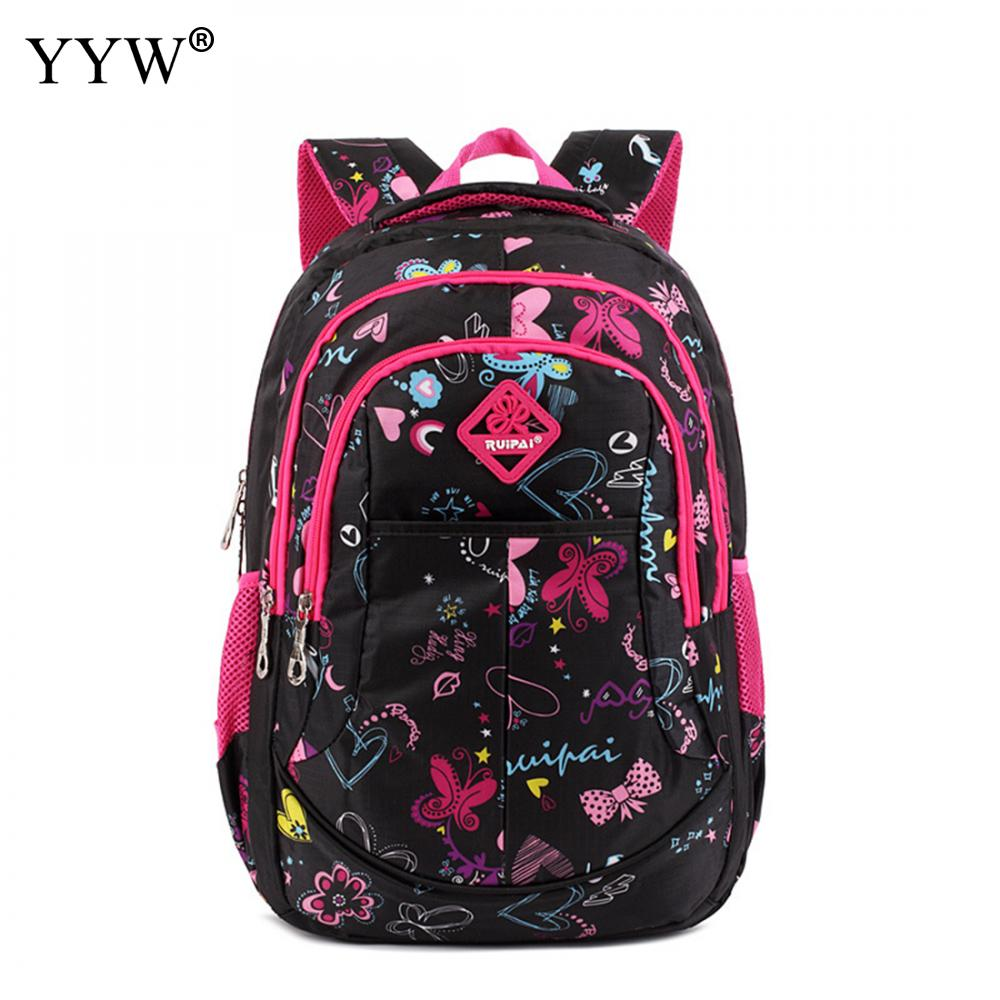 Backpack Female Travel-Bags Large-Capacity Anti-Theft High-Quality Children For Bright-Rosy