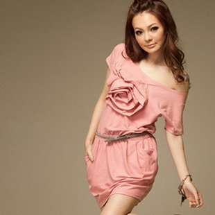2012 New Fashion Ladies/Girls sexy dress club party dress casual dress ,sweeting rose design,have pocket Free shipping