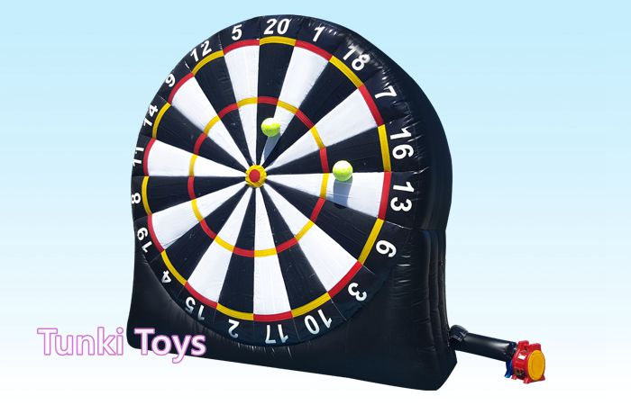 3 meters oxford cloth Inflatable Soccer Darts, Big Balls and Air Blower Included