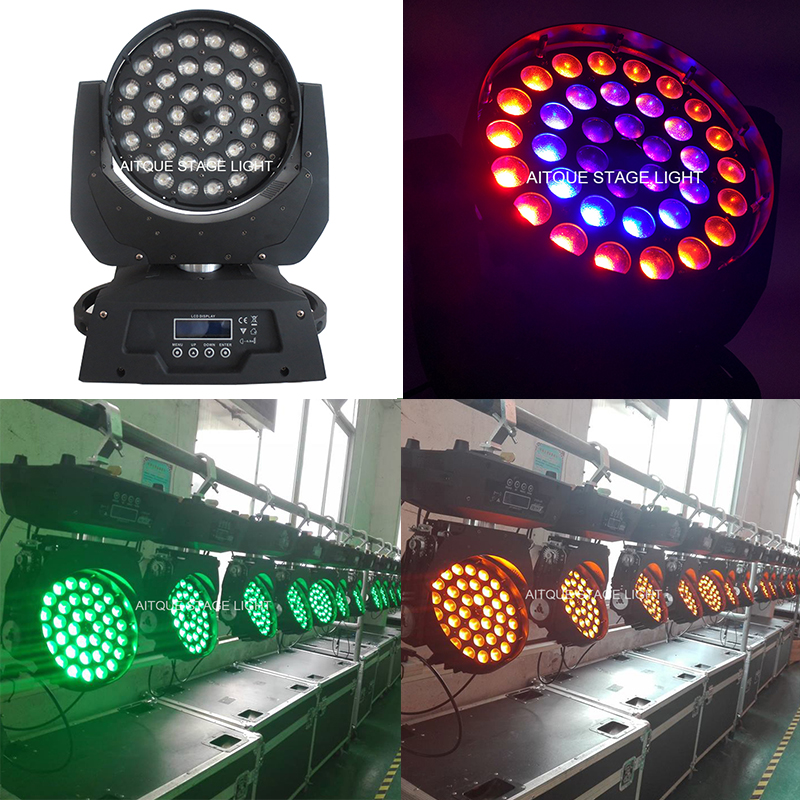 Stage lighting effect circle led moving head wash dj 36x15w wash led rgbwa moving head 5in1 zoom light