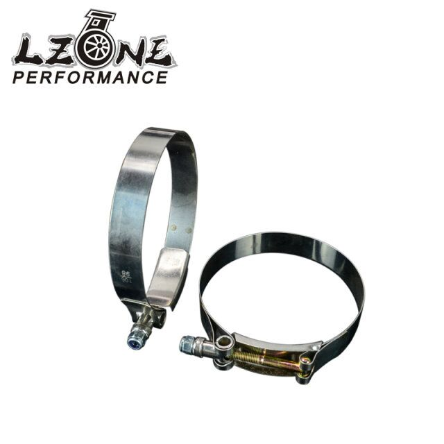 LZONE RACING - (2PC/LOT) 3.75 CLAMPS (98-106)STAINLESS SILICONE TURBO HOSE COUPLER T BOLT CLAMP KIT HIGH QUALITY JR5257