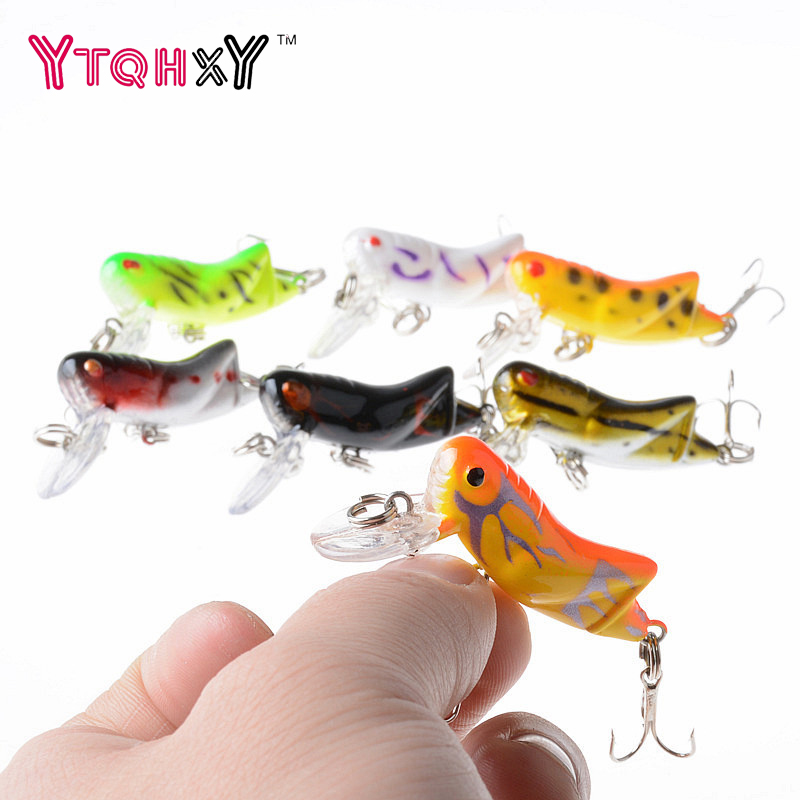 1 Pcs Fly fishing Lure 4.5cm 4.1g Hard Lure Pesca Artificial Bait Grasshopper Insects Sea Fishing Hooks WQ8071 trulinoya 6cm 16g fly fishing lure vmc hook fishing hard bait crankbait wobblers artificial bait for sea carp fishing pesca