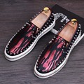 Shoe Transparent Film Rivet Spikes Mens Studded Loafers Flash Fabric Chromatic Studded Embossed Leather Cow Split Vivid