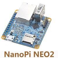 NanoPi NEO2 Allwinner H5 Conseil de Développement 64 Peu Quad Core A53 Gigabit Ethernet Construit Dans Six Core Mail450 GPU Run UbuntuCore