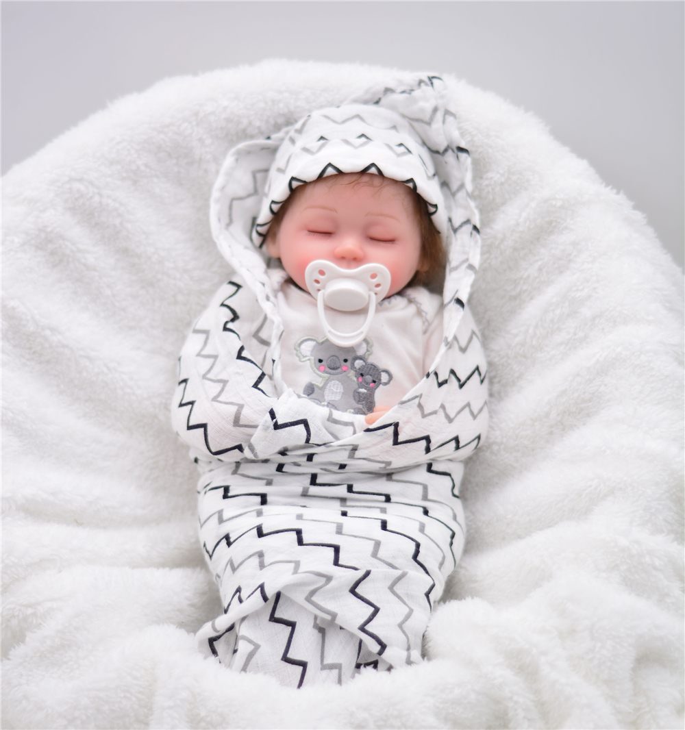 40cm Bebe Reborn Doll Feel Comfortable Silicone Boy Girl Toy Reborn Baby Doll Closed Eyes Gift For Children Baby Alive Doll Toys