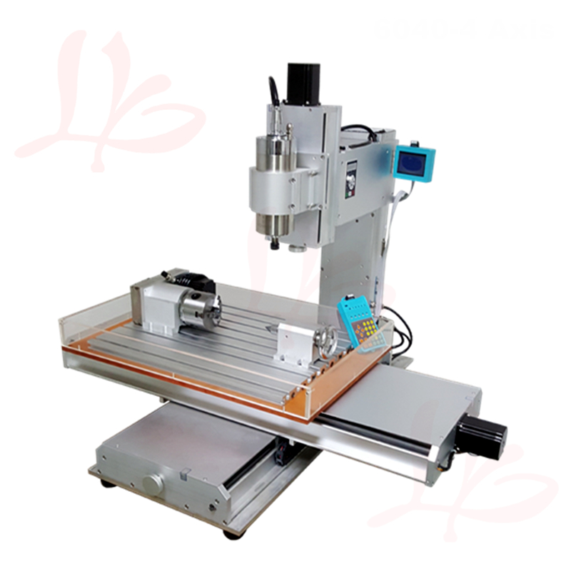 1500W pillar type 4axis mini CNC router 6040 cnc cutting machine with water tank can update to 5axis cnc 5axis a aixs rotary axis t chuck type for cnc router cnc milling machine best quality