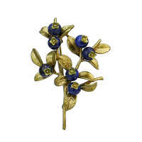 Free shipping Vintage brooch bronze spray paint elegant blueberry brooch western fashion pin women copper corsage
