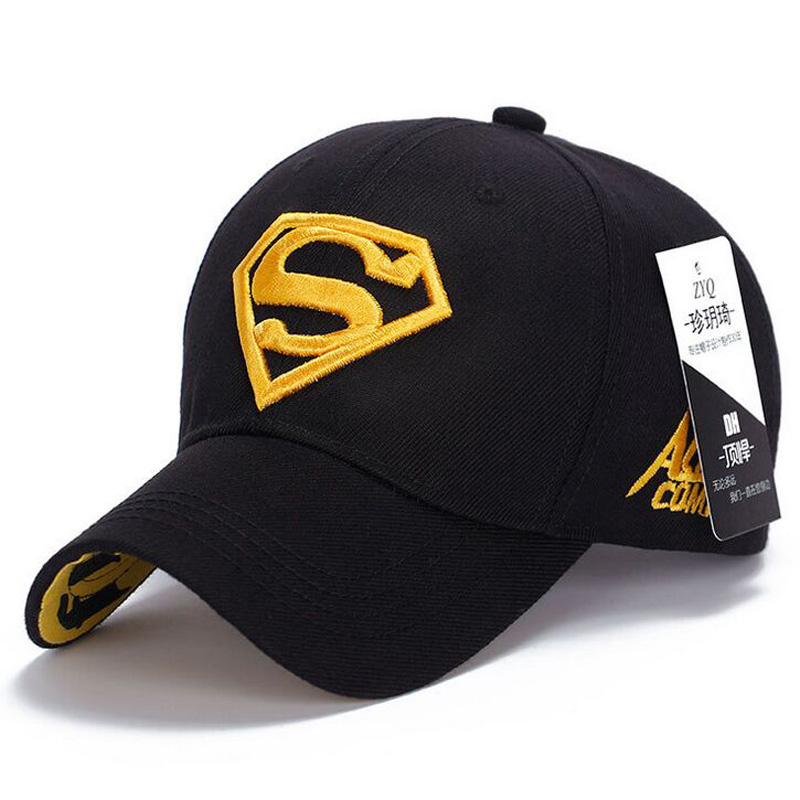 1 Pcs 2016 New Fashion Men And Women Lovers Baseball Caps Spring And Autumn Cotton Superman Hats 55-60cm 6115 fashion new women s hat lace beanie crystal direction hats for women autumn winter outdoor thin caps sport beanies