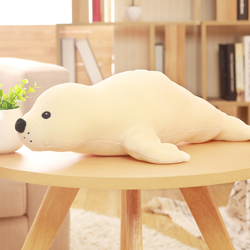 huge new creative plush seal doll big stuffed white seal toy gift about 120cm big lovely simulation cow plush toy creative stuffed cow doll birthday gift about 75cm